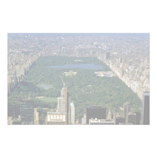 Central Park from the south, New York City, USA Stationery