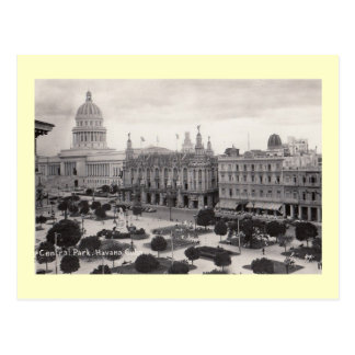 Central Park, Havana, Cuba Vintage Postcard