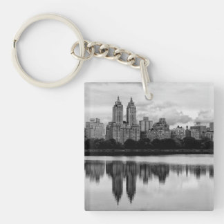 Central Park, horizonte de NYC Llavero Cuadrado Acrílico A Una Cara