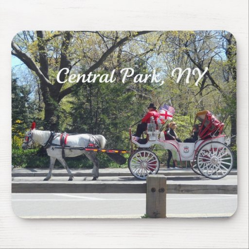Central Park, Horse and Carriage Mousepad