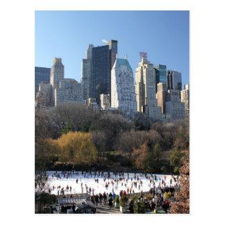 Central Park Ice Rink Postcard