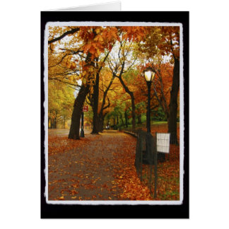 Central Park in Autumn Greeting Cards