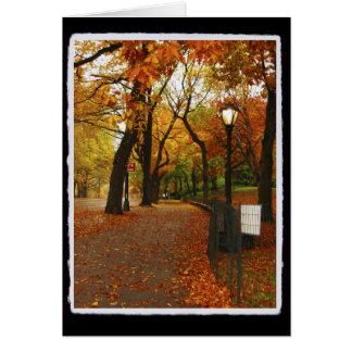 Central Park in Autumn Card