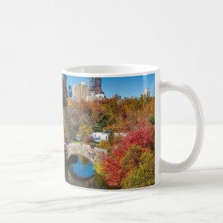 Central park in autumn foliage New York Coffee Mug