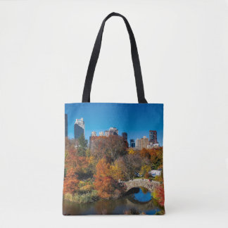 Central park in autumn foliage New York Tote Bag