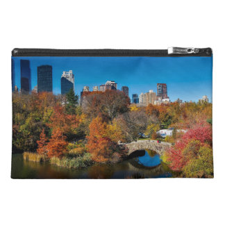 Central park in autumn foliage New York Travel Accessory Bag