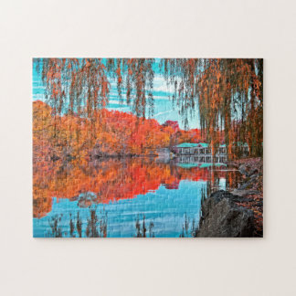 Central Park In Autumn Jigsaw Puzzle