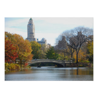 Central Park in Autumn, New York City - poster