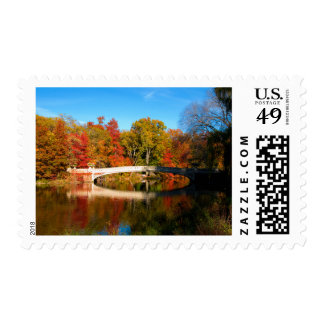 Central Park in Autumn - postage