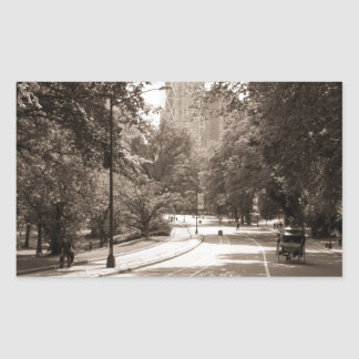 Central Park in New York City during the summer. Rectangular Sticker