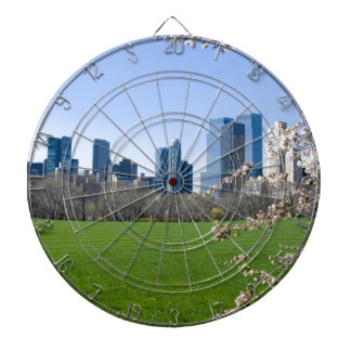 Central Park in Spring Dartboard With Darts