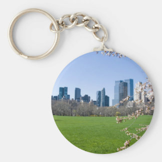 Central Park in Spring Keychain