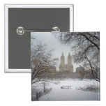 Central Park in the Snow, New York City Button