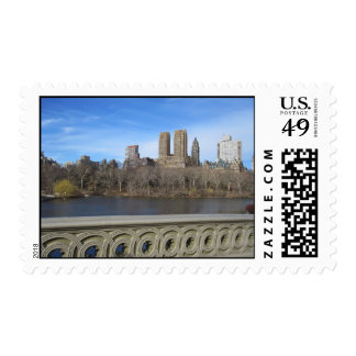 Central Park in the Spring Postage
