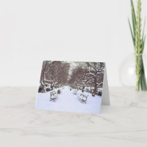 'Central Park in Winter' Holiday Card - Christmas