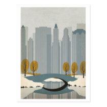 Central Park In Winter Postcard