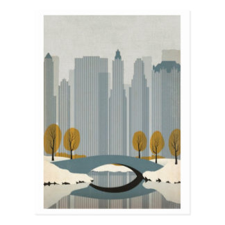 Central Park In Winter Postcard