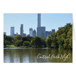 Central Park Lake New York City NYC Photography Card