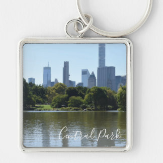 Central Park Lake New York City NYC Photography Keychain