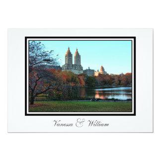 Central Park Lake, San Remo NYC Autumn Wedding Card