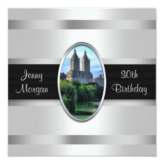 Central Park Lake San Remo NYC Birthday Party 5.25x5.25 Square Paper Invitation Card