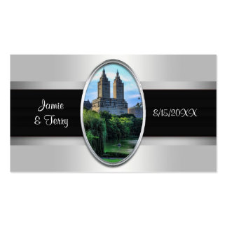 Central Park Lake, San Remo NYC Escort Cards Double-Sided Standard Business Cards (Pack Of 100)