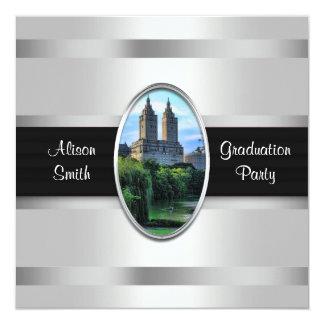 Central Park Lake, San Remo NYC Graduation Party 5.25x5.25 Square Paper Invitation Card