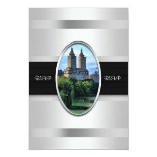 "Central Park Lake, San Remo NYC RSVP Card 1 3.5"" X 5"" Invitation Card"