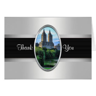 Central Park Lake, San Remo NYC Thank You Card