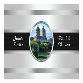 """Central Park Lake SanRemo NYC Bridal Shower Invite 5.25"""" Square Invitation Card"""