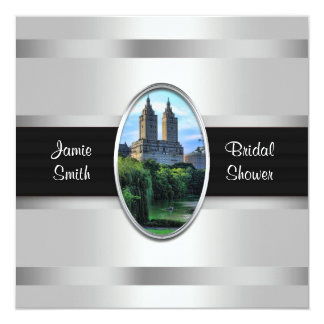Central Park Lake SanRemo NYC Bridal Shower Invite