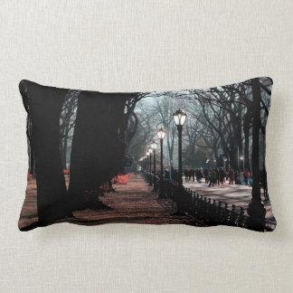 Central Park Landscape Lampposts Photo Throw Pillow