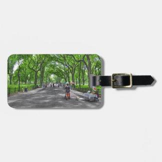 Central Park literario del paseo, Nueva York Etiqueta Para Maleta