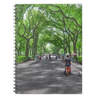 Central Park literario del paseo, Nueva York Libro De Apuntes