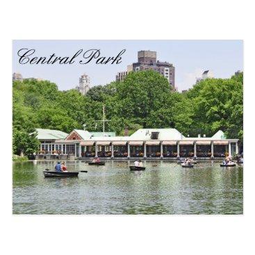 Fleetphoto Central Park - Loeb Boathouse Postcard
