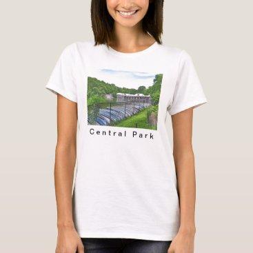Fleetphoto Central Park - Loeb Boathouse T-Shirt