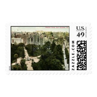 Central Park, Los Angeles, 1912 Vintage Postage