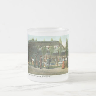 Central Park Menagerie, New York City 1909 Vintage Frosted Glass Coffee Mug
