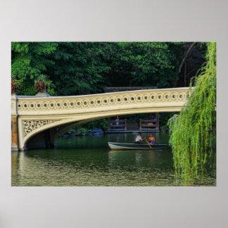 Central Park: Navegantes del verano por el puente Póster