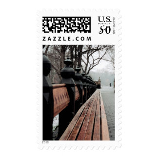 Central Park New City winter Postage