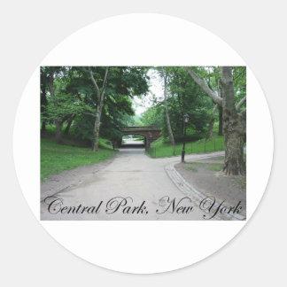 Central Park, New York 2 Classic Round Sticker