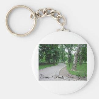 Central Park, New York Basic Round Button Keychain