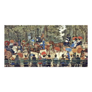 Central Park New York By Prendergast Maurice Brazi Card