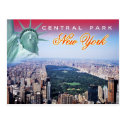 Central Park, New York City - aerial view Post Cards