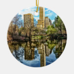 Central Park New York City NYC Double-Sided Ceramic Round Christmas Ornament