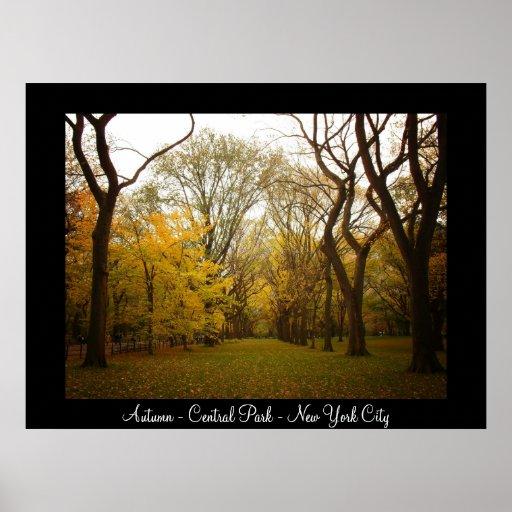 Central Park - New York City - otoño Poster