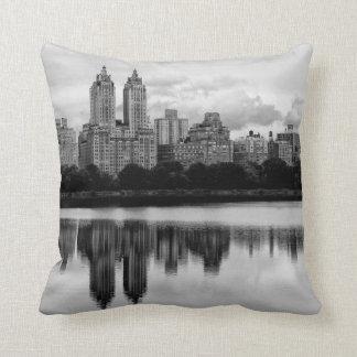Central Park New York City Skyline Throw Pillows