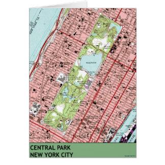 Central Park New York City Vintage Map Card