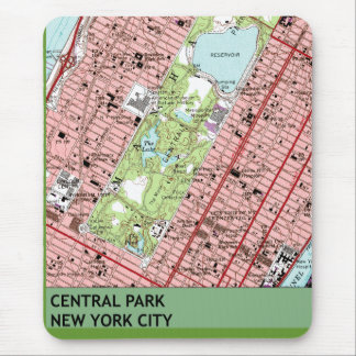 Central Park New York City Vintage Map Mouse Pad