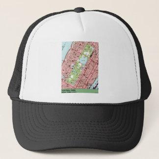 Central Park New York City Vintage Map Trucker Hat